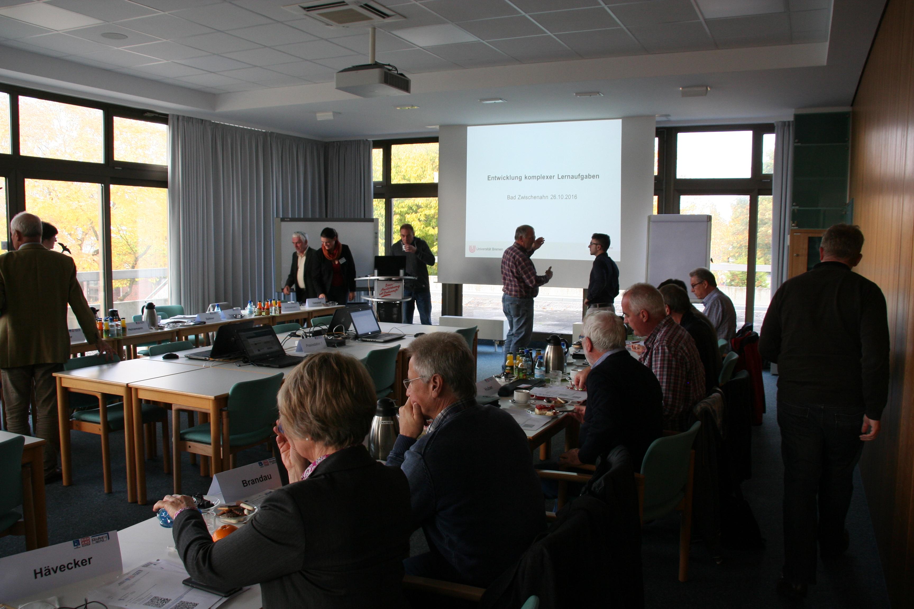 """Dozententreffen im Rahmen des Projektes """"DigiProB"""" im Bau-ABC Rostrup"""